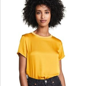 Nation LTD Sateen Boxy Crop T-Shirt